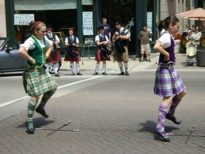 The Thistle and Heather Highland Dancers with the City of Chicago Pipe Band