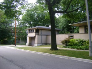 The Emma Martin Coach House, designed by Frank Lloyd Wright