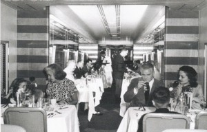 """...dinner in the diner, nothing could be finer..."" the Dining Car on the 20th Century Limited."