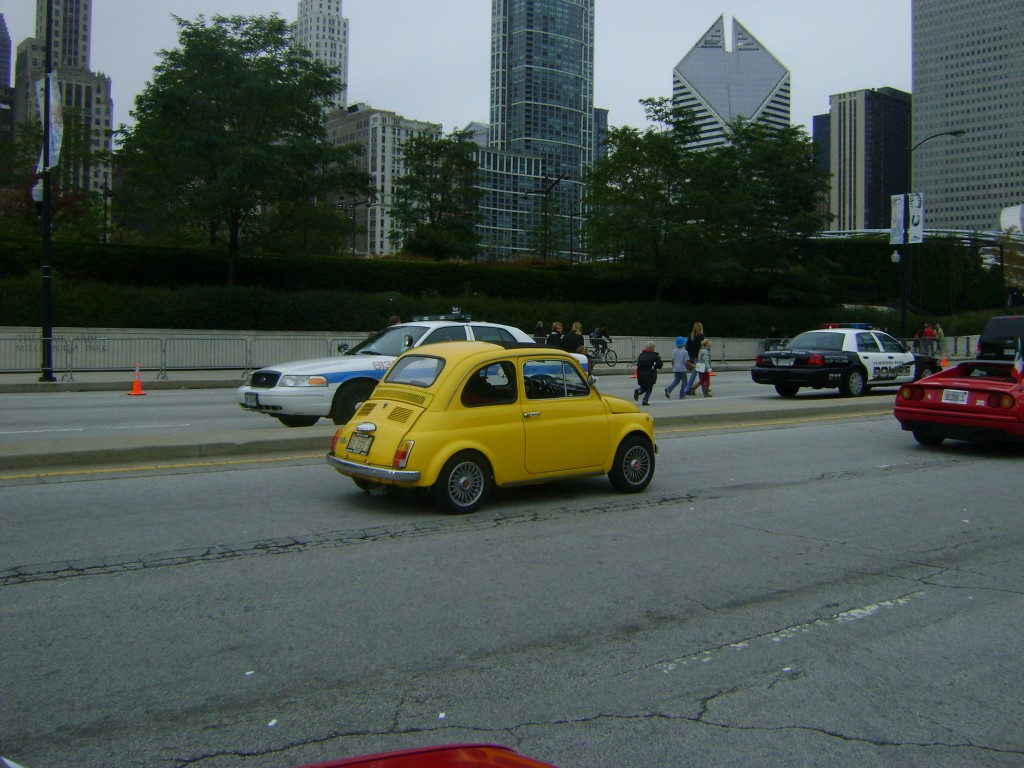 Vintage Fiat 500, in yellow